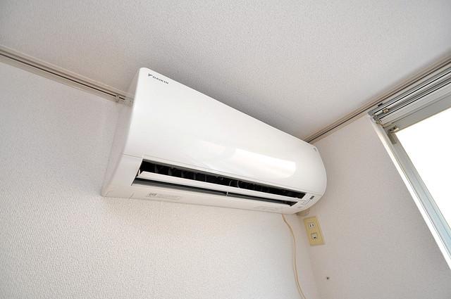 エステートピアナカタB棟 エアコンが最初からついているなんて、本当に助かりますね。