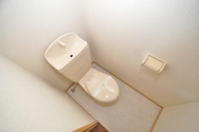 リバーサイド金岡六番館 清潔感のある爽やかなトイレ。誰もがリラックスできる空間です。