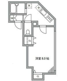 ガーデンキューブ下井草4階Fの間取り画像