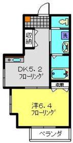 三田レジデンス鶴見1階Fの間取り画像