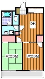 地下鉄赤塚駅 徒歩12分2階Fの間取り画像