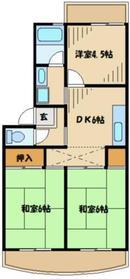 サンパティオ3階Fの間取り画像