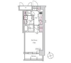 アーバネックス三田2階Fの間取り画像