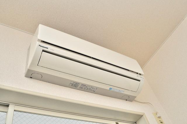 ハウスランド布施 エアコンが最初からついているなんて、本当にうれしい限りです。
