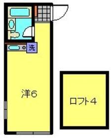 さくら殿町2階Fの間取り画像