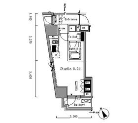 パークアクシス新板橋ウエスト6階Fの間取り画像