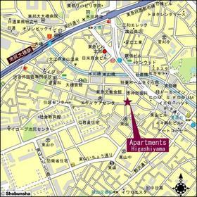 アパートメンツ東山案内図