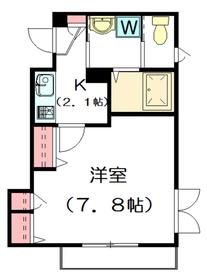 メゾン・ドゥ・ラ・ヴァレ2階Fの間取り画像