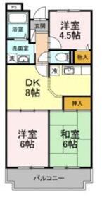 グランメール津田山1階Fの間取り画像