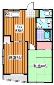 下赤塚駅 徒歩8分1階Fの間取り画像