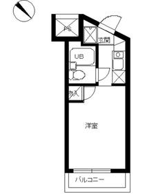 スカイコート西横浜41階Fの間取り画像
