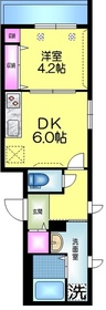 (仮称)平井5丁目Tマンション4階Fの間取り画像