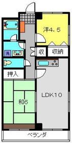 荻野ビル4階Fの間取り画像