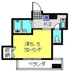 フィオリーレ・サーラ3階Fの間取り画像