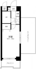 ベルメゾン川崎Ⅱ4階Fの間取り画像