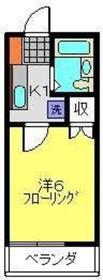 サンヒルズA棟2階Fの間取り画像