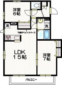 アンソレイユⅡ3階Fの間取り画像