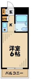 アクシイズ唐木田1階Fの間取り画像