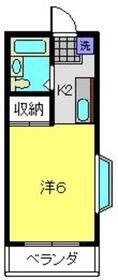 エステートピア金子2階Fの間取り画像