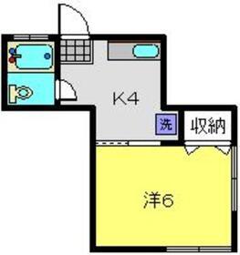 増田ハイツ1階Fの間取り画像