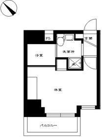 スカイコート三田慶大前壱番館8階Fの間取り画像