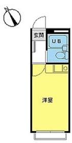スカイピア旗の台2階Fの間取り画像