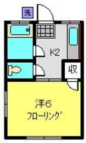 藤山荘1階Fの間取り画像