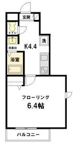 サフィーロ武蔵関3階Fの間取り画像