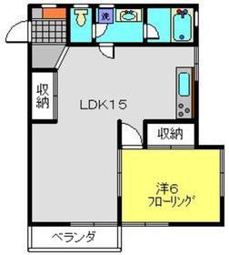 ハイツパークサイドNo.31階Fの間取り画像
