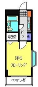 元住吉駅 徒歩10分6階Fの間取り画像