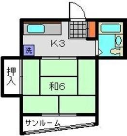 リバース大倉山3階Fの間取り画像