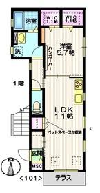 メゾン富士1階Fの間取り画像