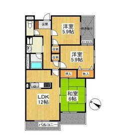 ヤマジンフローラ4階Fの間取り画像