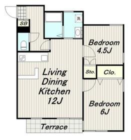リバーサイドハウス2階Fの間取り画像