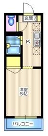 メゾンサンライズ1階Fの間取り画像