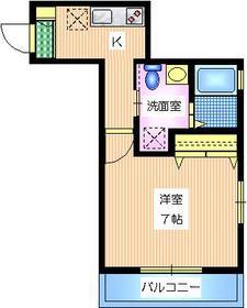 M・I目黒3階Fの間取り画像