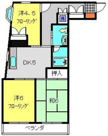 綱島駅 徒歩5分4階Fの間取り画像