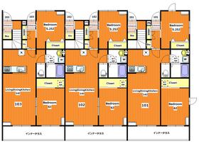ベラ フォレスト1階Fの間取り画像
