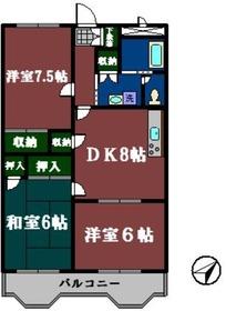 ファインドリブ3階Fの間取り画像