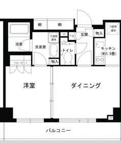 PORTO PARTIRE YOKOHAMA5階Fの間取り画像