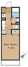 ブリッサ21階Fの間取り画像