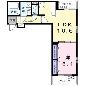 グレイスコート3階Fの間取り画像