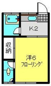 常盤台荘5号棟2階Fの間取り画像