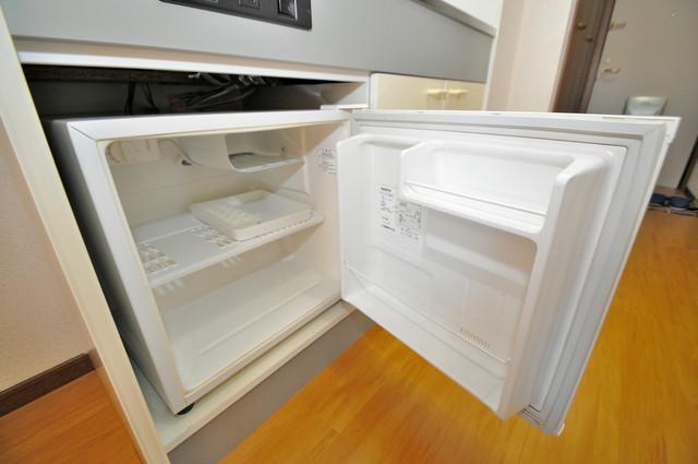 プリムローズHY1 ミニ冷蔵庫付いてます。単身の方には十分な大きさです。