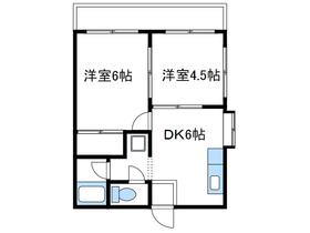 パルハイム3階Fの間取り画像