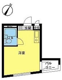 スカイコート中目黒6階Fの間取り画像