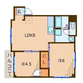 大成屋ビル5階Fの間取り画像