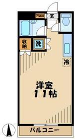 キャスケード13階Fの間取り画像