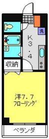 ジュネス小杉ビル2階Fの間取り画像
