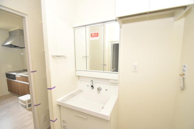 Charme Lacine(シャルム ラシーネ) 独立した洗面所には洗濯機置場もあり、脱衣場も広めです。